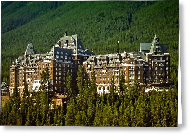 Greeting Card featuring the photograph Banff Springs Hotel by Richard Farrington