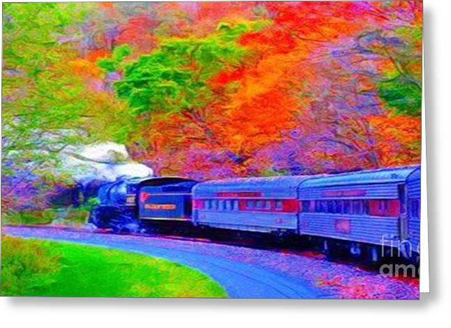 Bang Bang Choo Choo Train-a Dreamy Version Collection Greeting Card