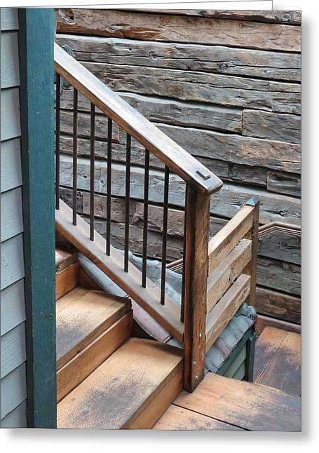 Banister Greeting Card by Don Barnes