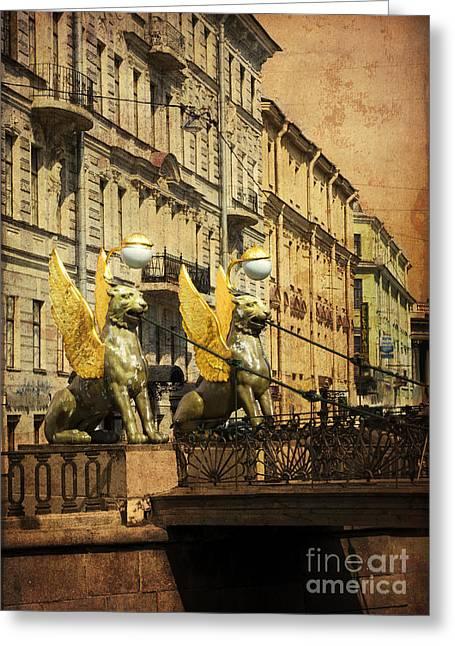 Bank Bridge Greeting Card by Elena Nosyreva