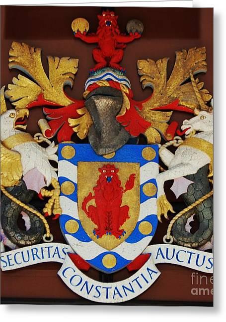 Bank Of Bermuda Coat Of Arms Greeting Card