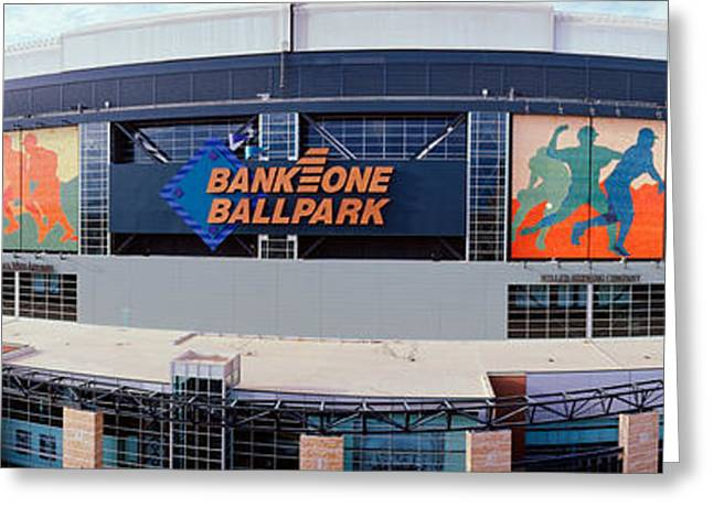 Bank One Ballpark Phoenix Az Greeting Card by Panoramic Images