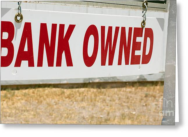 Bank Owned Real Estate Sign Greeting Card