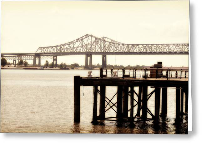 Greeting Card featuring the photograph Bank The Bridge by Davina Washington