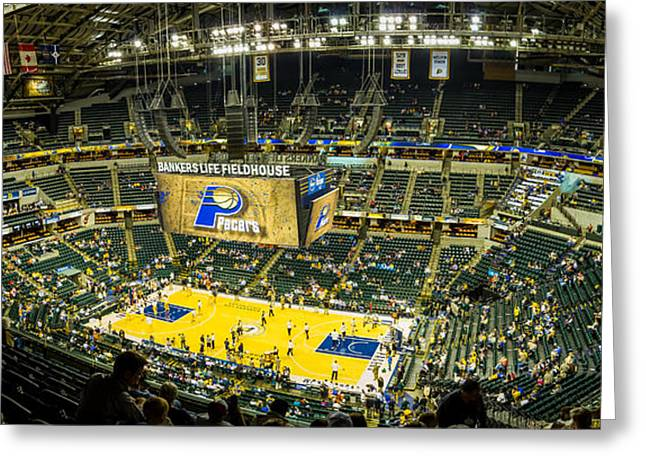 Bankers Life Fieldhouse - Home Of The Indiana Pacers Greeting Card