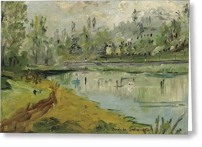 Banks Of The Saone River - Orig. Sold Greeting Card by Bernard RENOT