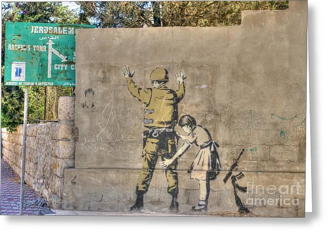 Banksy In Bethlehem 2 Greeting Card