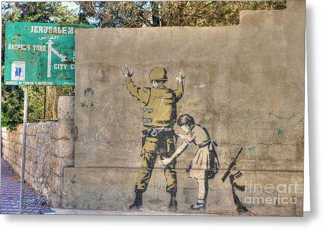 Banksy In Bethlehem 2 Greeting Card