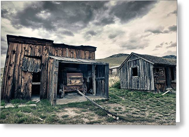 Bannack Carriage House Greeting Card by Renee Sullivan