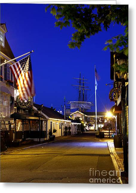 Bannister's Wharf I Greeting Card
