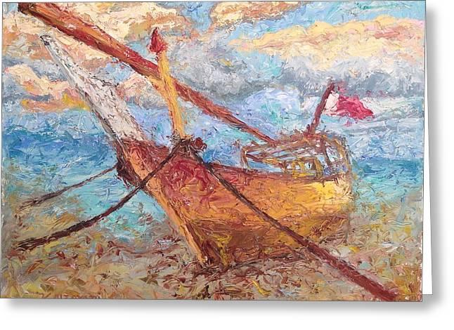 Banoush II Greeting Card by Khalid Alzayani