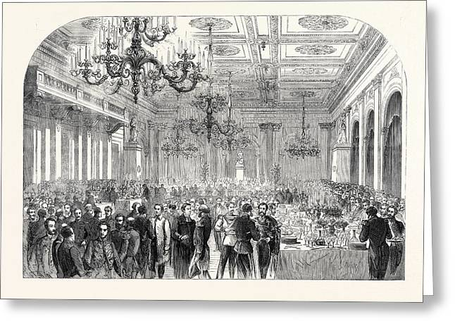 Banquet Given At The Exchange Gottenburg On The Occasion Greeting Card by English School