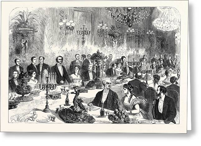 Banquet Given To The Imperial Commissioners Of The Paris Greeting Card by French School