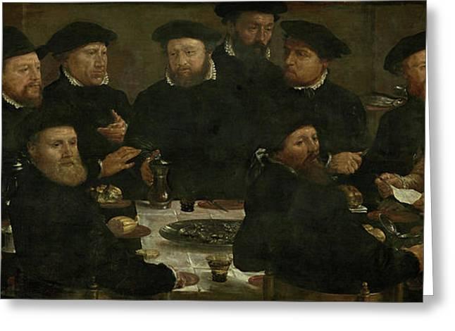 Banquet Of 18 Guardsmen Of Squad L, Amsterdam 1566 Perch Greeting Card