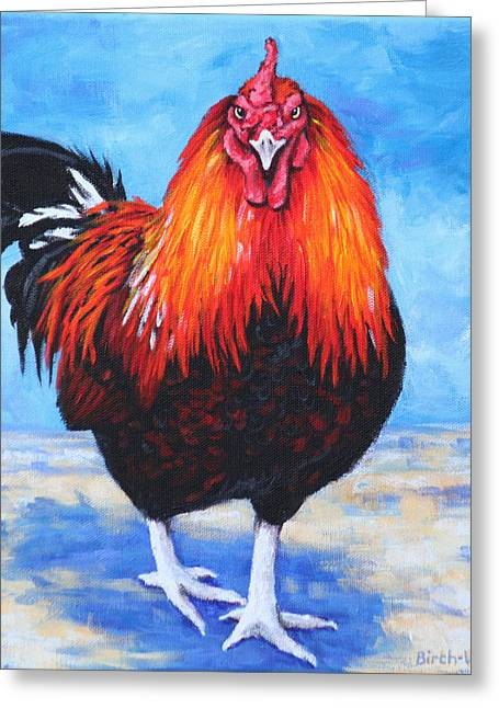 Bantam Rooster Greeting Card