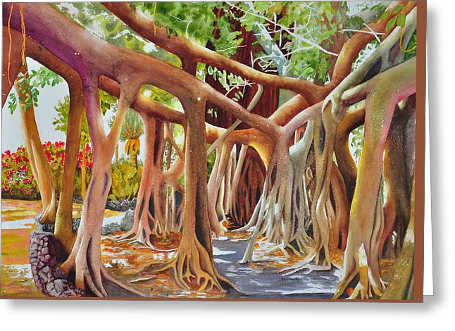Banyan Home Greeting Card by Terry Arroyo Mulrooney