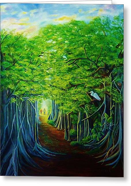 Banyan Walk Greeting Card