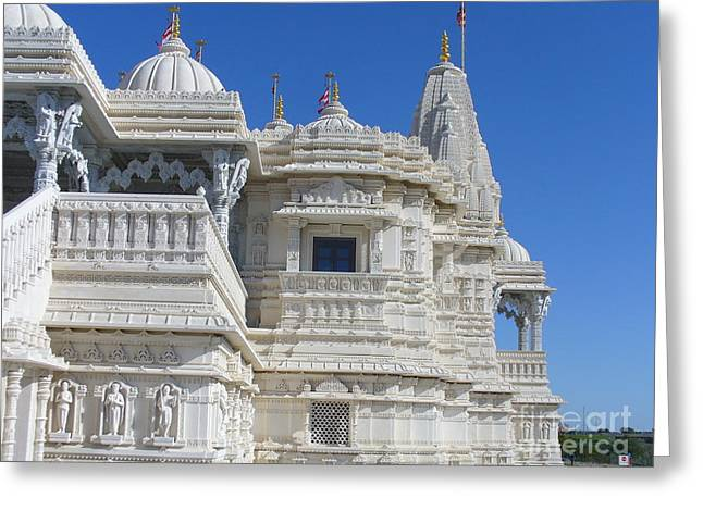 Baps Marble Mandir In Toronto Greeting Card by Lingfai Leung