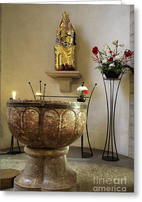 Baptismal Font  Greeting Card