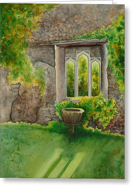 Baptistry At Lainston House  Winchester England Greeting Card