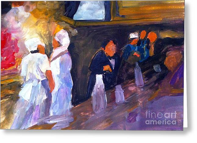 Bar And Grille Greeting Card by Sandra Stone