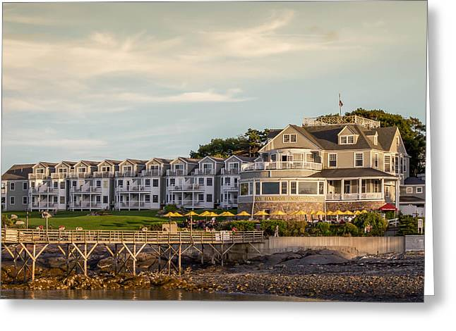 Greeting Card featuring the photograph Bar Harbor Inn  by Trace Kittrell
