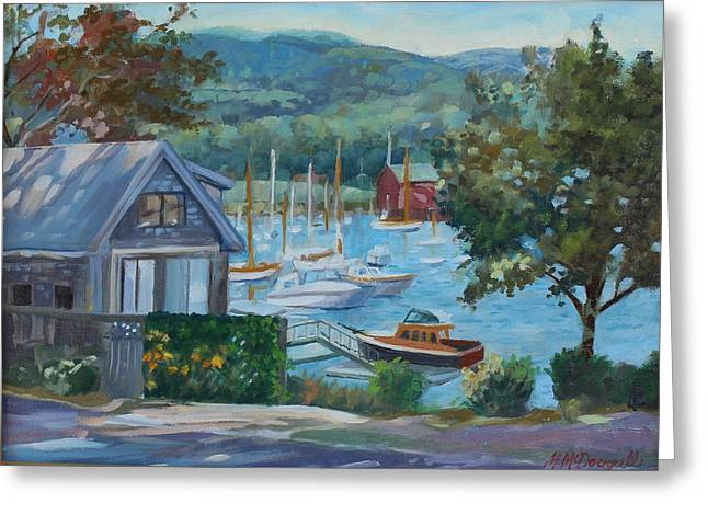 Bar Harbor Maine Greeting Card by Michael McDougall