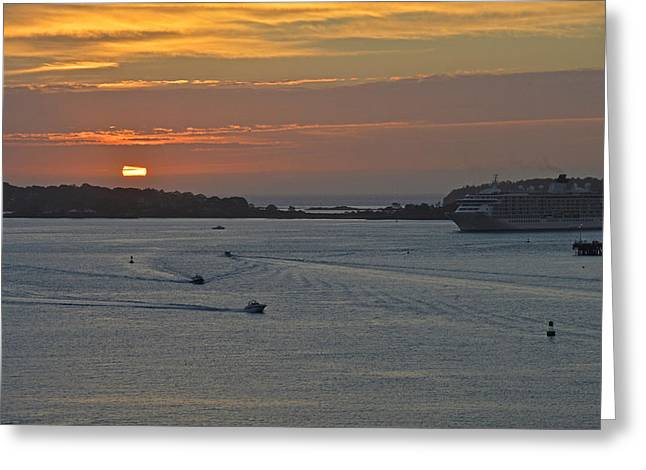 Bar Harbor Maine Sunrise Greeting Card