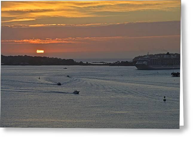 Bar Harbor Maine Sunrise Greeting Card
