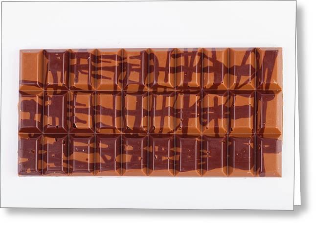 Bar Of Chocolate Greeting Card by Wladimir Bulgar