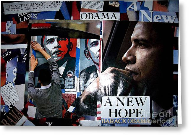 Barack Obama Greeting Card by Isis Kenney