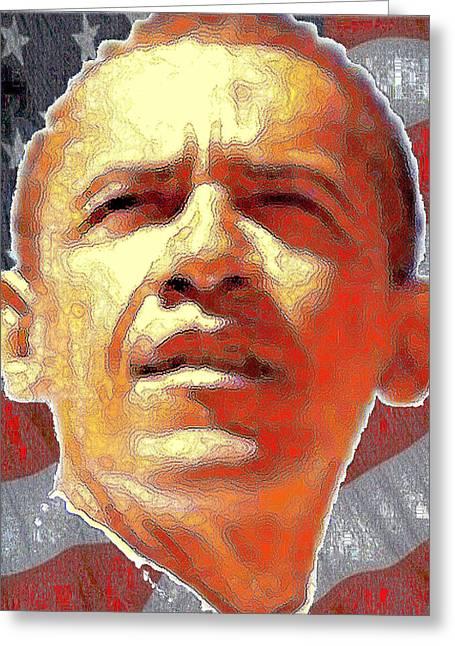 Barack Obama Portrait - American President 2008-2016 Greeting Card
