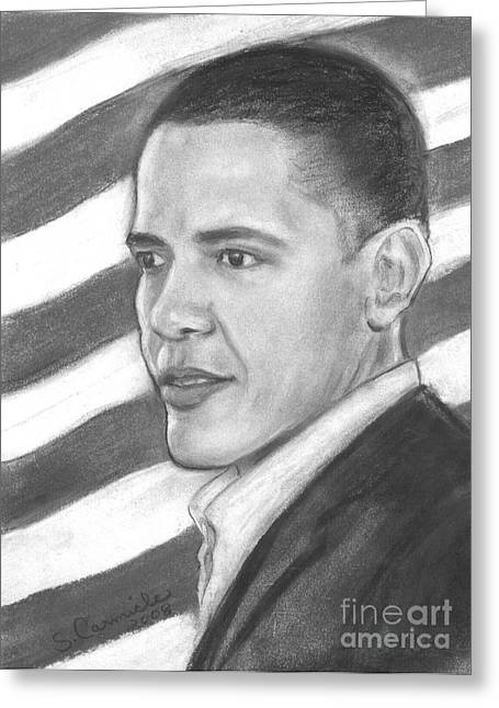 Barack Greeting Card by Sue Carmicle