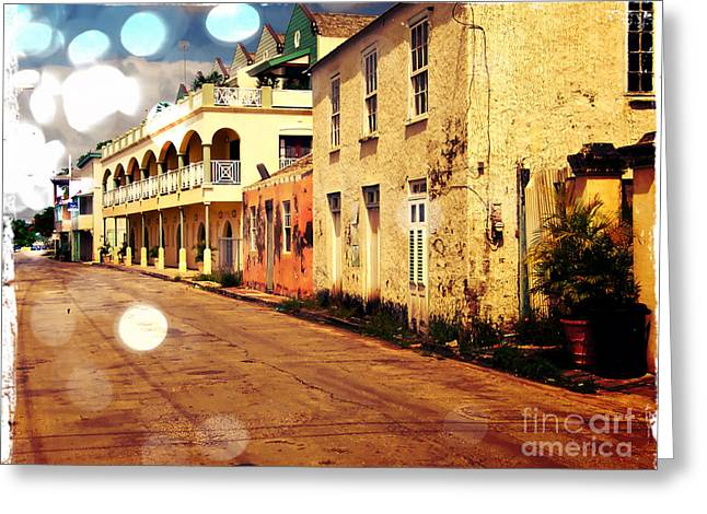 Barbados Street Scene Greeting Card by Sophie Vigneault