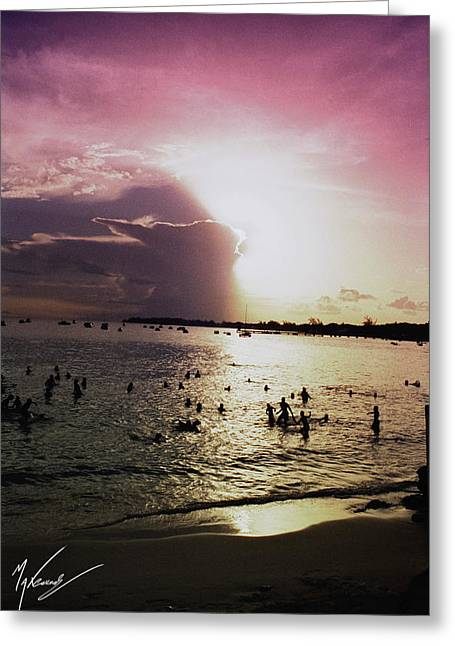 Barbados Sunset Greeting Card by Max CALLENDER