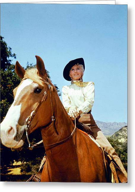 Barbara Stanwyck In The Big Valley Greeting Card by Silver Screen