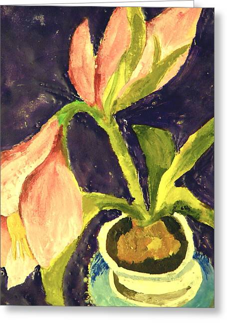 Barbara's Lily Greeting Card by Valerie Lynch
