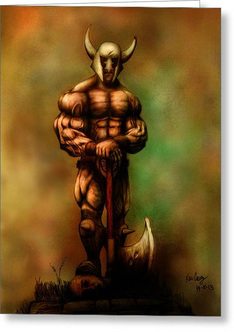 Barbarian King Greeting Card