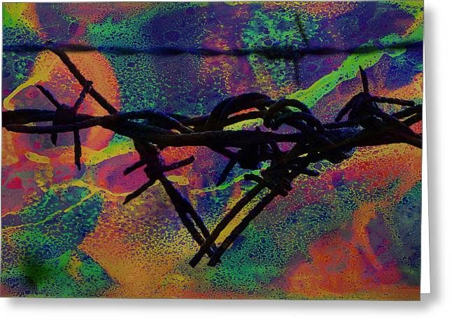 Barbed Wire Love-punch Drunk Greeting Card