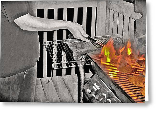 Barbeque Greeting Card by Steve Ohlsen