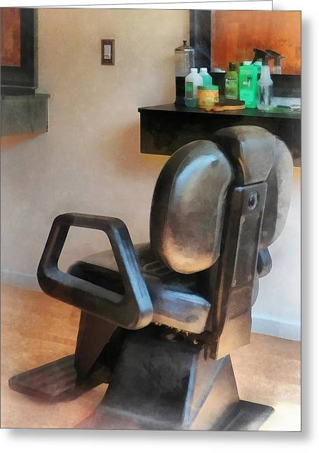 Barber - Barber Chair And Hair Supplies Greeting Card by Susan Savad