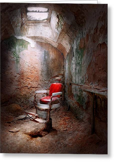 Barber - Eastern State Penitentiary - Remembering My Last Haircut  Greeting Card