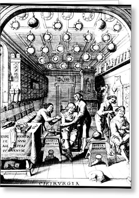 Barber-surgeons Treat Patients, 17th Greeting Card by Science Source