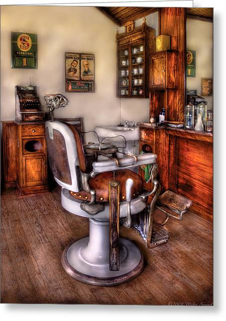 Barber - The Barber Chair Greeting Card