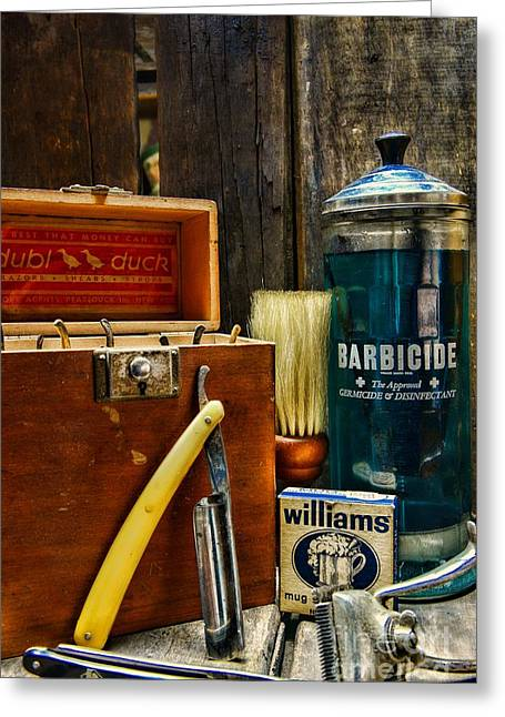 Barber - Vintage Barber Tools  Greeting Card
