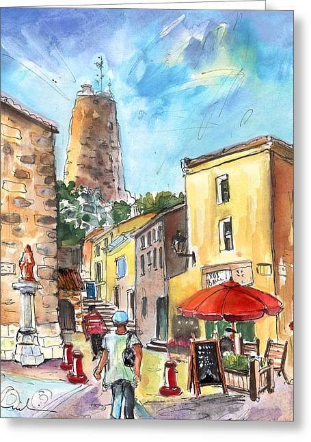 Barberousse Tower In Gruissan Greeting Card by Miki De Goodaboom