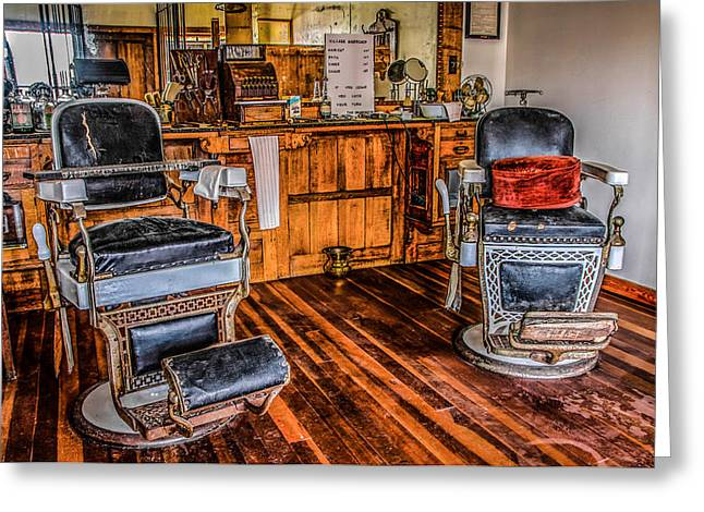 Barbershop Greeting Card by Ray Congrove
