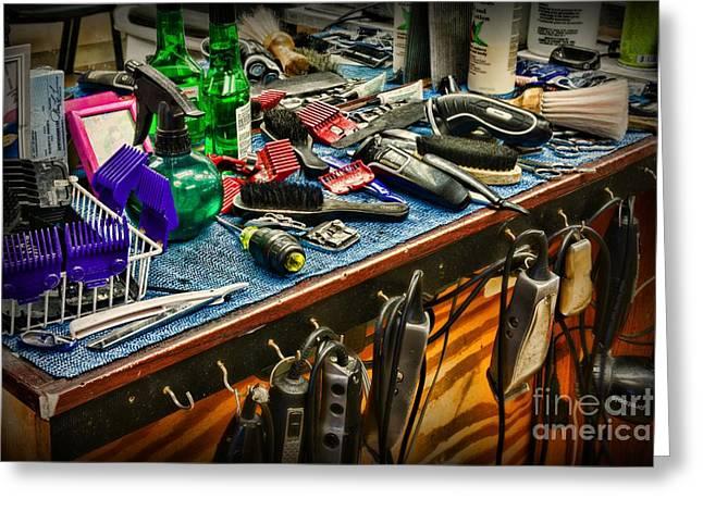 Barbershop - So Many Tools Greeting Card