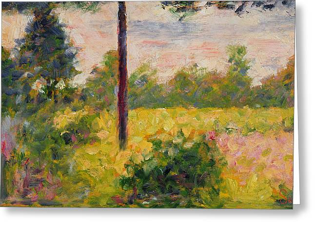 Barbizon Forest Greeting Card by Georges Pierre Seurat
