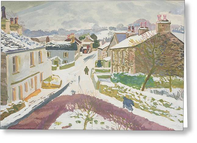 Barbon In The Snow Greeting Card by Stephen Harris